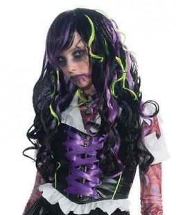 Zombie Rocker Long Curly Wig in Kuwait